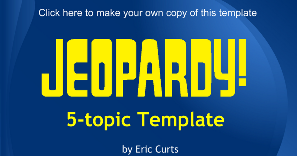 Free Jeopardy Google Slides Template