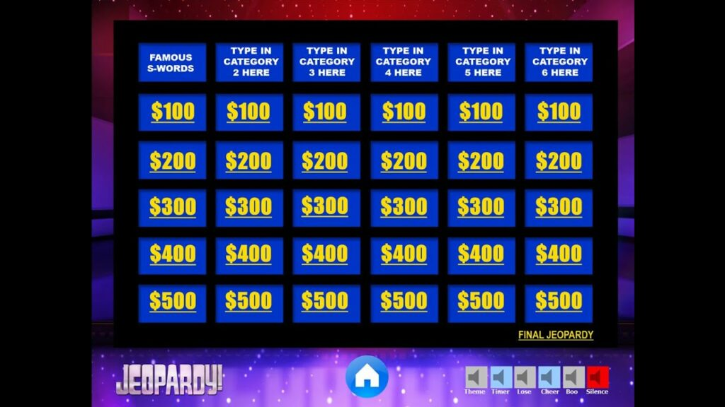 Free Jeopardy Template from Youth Downloads