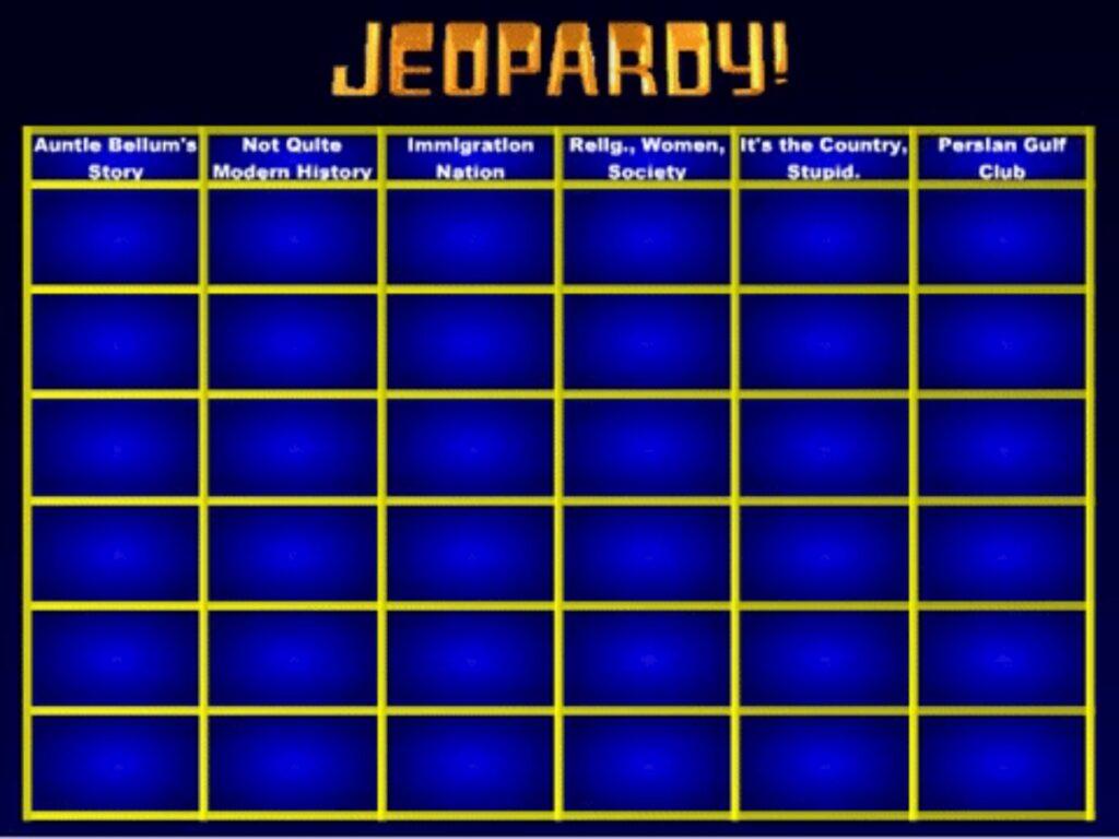 Jeopardy Maker