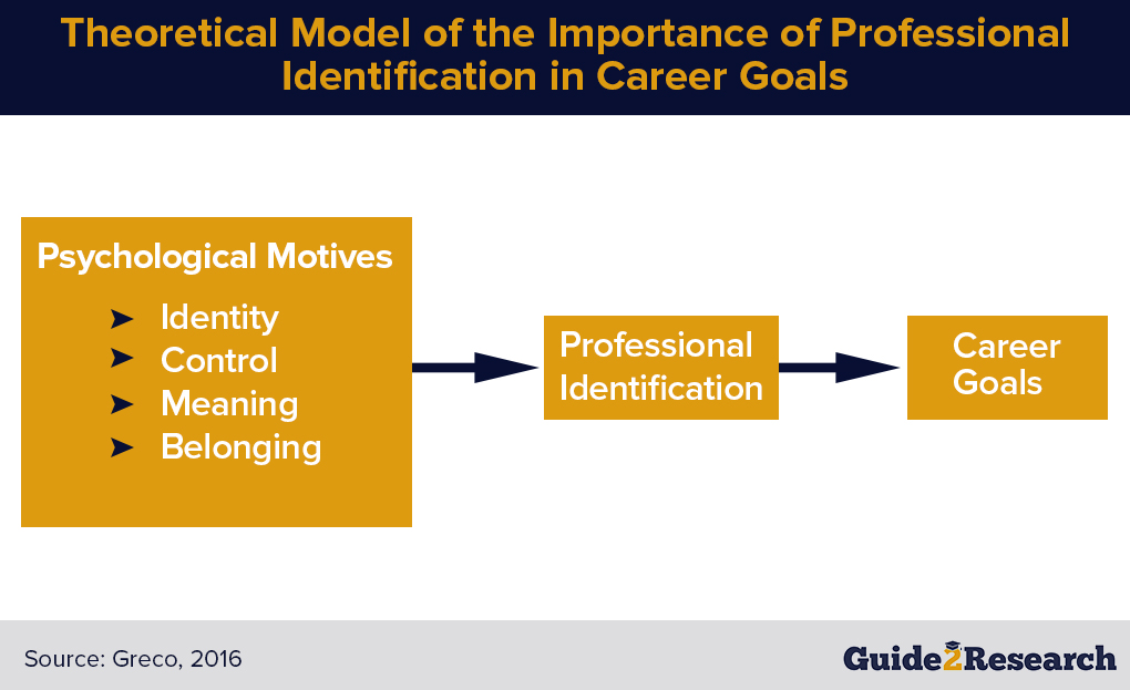 theoretical model, importance of professional identification in career goals