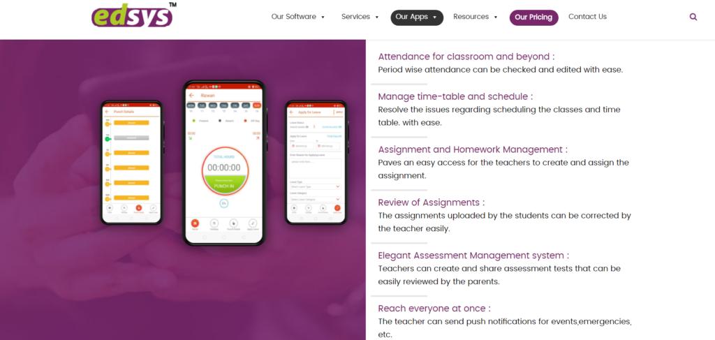 Edsys Teacher App